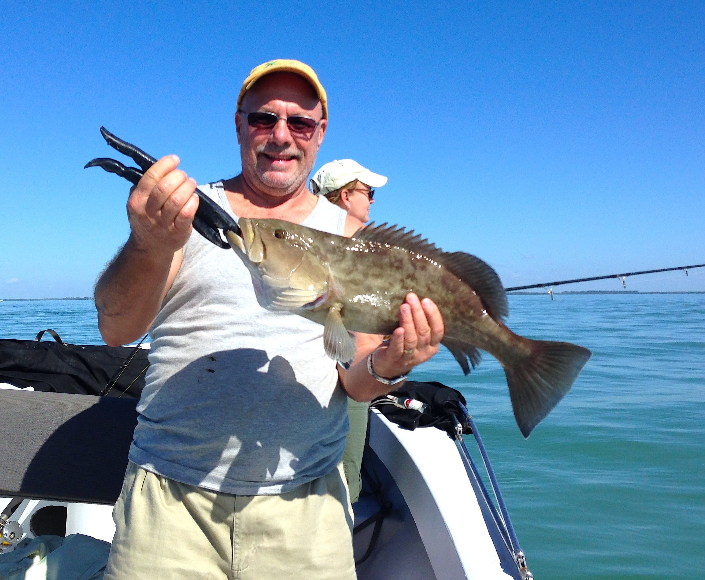 Grouper offshore of Captiva Island, North Captiva, Sanibel & Captiva Islands & Fort Myers Charters & Fishing Guide Service.
